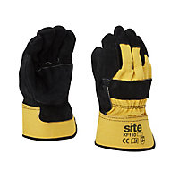 Site Cotton & leather Rigger Gloves, Large
