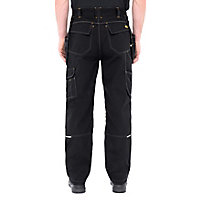"Site Fox Black Men's Trousers, W38"" L32"""