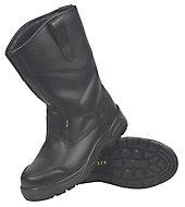 Site Gravel Black Rigger boots, Size 8
