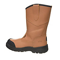 Site Gravel Tan Rigger boots, Size 8