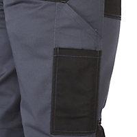 """Site Harrier Black & grey Men's Trousers, W36"""" L32"""""""