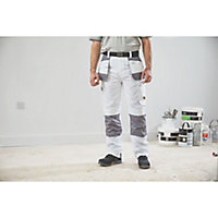 "Site Jackal White/Grey Men's Trousers, W30"" L32"""
