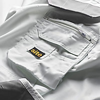 "Site Jackal White/Grey Men's Trousers, W38"" L32"""