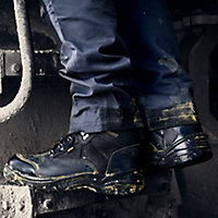 Site Onyx Men's Black Safety boots, Size 7