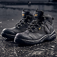 Site Onyx Men's Black Safety boots, Size 9