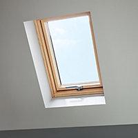 Site Standard Anthracite Aluminium alloy Centre pivot Roof window, (H)780mm (W)540mm
