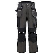 "Site Tanuki Black & grey Trousers, W36"" L32"""