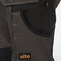 "Site Tanuki Black & grey Trousers, W38"" L32"""