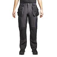 "Site Tesem Black Men's Multi-pocket trousers, W34"" L32"""