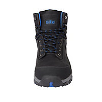 Site Thorite Unisex Black & blue Safety boots, Size 10