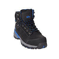 Site Thorite Unisex Black & blue Safety boots, Size 11
