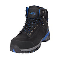 Site Thorite Unisex Black & blue Safety boots, Size 8