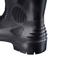 Site Trench Black Safety wellington boots, Size 8