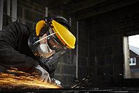 Site Yellow Polyester (PES) & polypropylene (PP) Face shield & guard