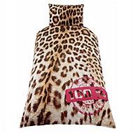 Skybrands Leopard print Multicolour Single Bedding set
