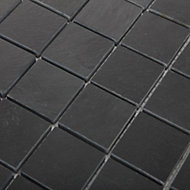 Slate Anthracite Natural stone Mosaic tile sheets, (L)303mm (W)304mm