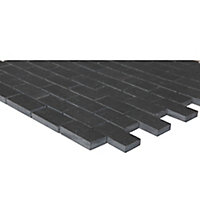 Slate Anthracite Stone effect Natural structure Natural stone Mosaic tile sheets, (L)300mm (W)300mm
