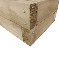 Sleeper Wooden Rectangular Planter 130cm