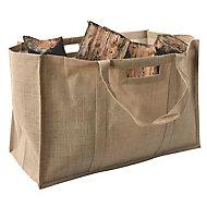 Slemcka Contemporary Log basket (H) 410mm (D)310mm