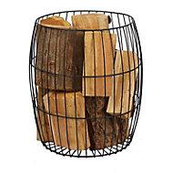 Slemcka Contemporary Log basket (H) 520mm (D)260mm