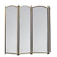 Slemcka Traditional Black Brass effect Fire screen