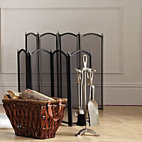 Slemcka Traditional Pewter effect Fire screen