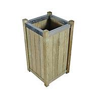 Slender Wooden Rectangular Planter 40cm, Pack of 2