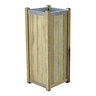 Slender Wooden Rectangular Planter 40cm