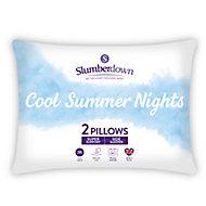 Slumberdown Summer Cool Firm Pillow, Pack of 2