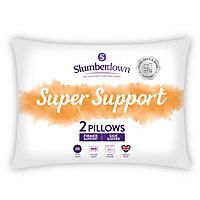 Slumberdown Super support Firm Pillow, Pack of 2
