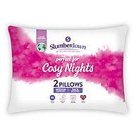 Slumberdown Winter nights Medium Pillow, Pack of 2