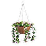 Smart Garden Multicolour Trailing lilies artificial Hanging basket, 30cm