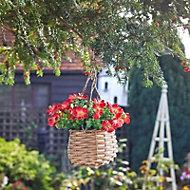 Smart Garden Red flower basket Artificial topiary