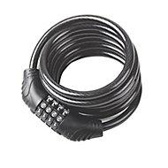 Smith & Locke Black Steel Combination Cable lock (L)1.8m