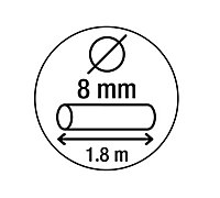 Smith & Locke Black Steel Cylinder Cable lock (L)1.8m, Pack of 3