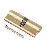 Smith & Locke Brass Single Euro Cylinder lock, (L)100mm (W)33mm