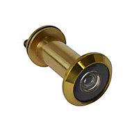 Smith & Locke Galvanised Brass 180° Door viewer, (Dia)25.9mm