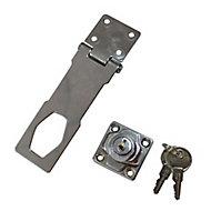 Smith & Locke Galvanised Steel Hasp & staple, (L)115mm (W)45mm