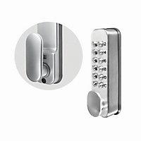 Smith & Locke Grey Zinc alloy 4-6 digit Push-button lock