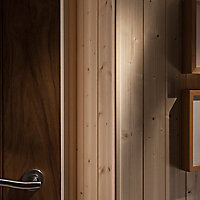Smooth Natural Pine Angled edge Moulding (L)2.4m (W)27mm (T)27mm