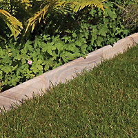 Smooth Natural Sandstone Single sided Paving edging (H)150mm (T)20mm