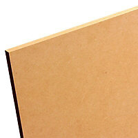 Smooth Softwood Medium-density fibreboard (MDF) Board (L)1.22m (W)0.61m (T)6mm