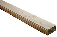 Smooth Spruce Tongue & groove Cladding (W)95mm (T)7.5mm, Pack of 5