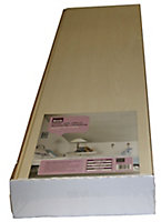 Smooth White PVC Cladding (L)1.2m (W)250mm (T)10mm, Pack of 8