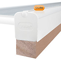 SNAPA White PVC Glazing bar & cap, (L)5m (W)52mm (T)79.5mm