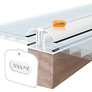 SNAPA White PVC Glazing bar, (L)5m (W)45mm (T)25mm