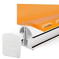 SNAPA White PVC Roof wall bar, (L)3m (W)55mm (T)105mm