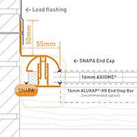 SNAPA White Side flashing (L)4m