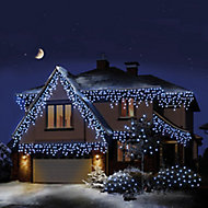 Snowing 960 White LED Icicle Icicle light Clear cable