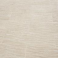 Soft travertin Beige Gloss 3D decor Stone effect Ceramic Wall Tile Sample